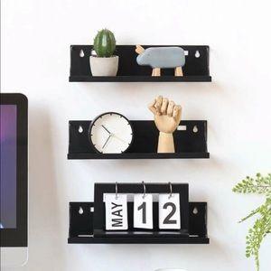 Floating shelf wall mounted storage rack